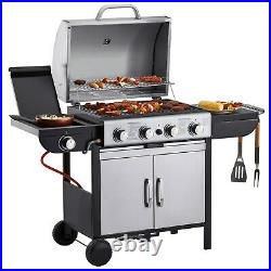 Blazebox 4+1 Gas Burner BBQ Grill Stainless Steel Barbecue with Side Burner NEW