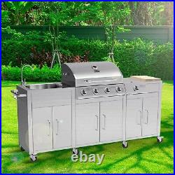 Boss Grill Texas Outdoor Kitchen in Full Stainless Steel