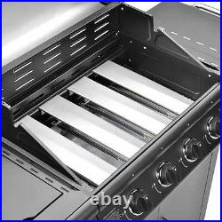 CosmoGrill 4+1 Pro Gas BBQ Black Barbecue Grill incl Side Burner Model- 93411
