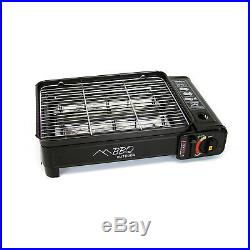 Evelyne 2in1 Portable Butane Gas Burner Stove BBQ Grill Griddle Camping Tailgate